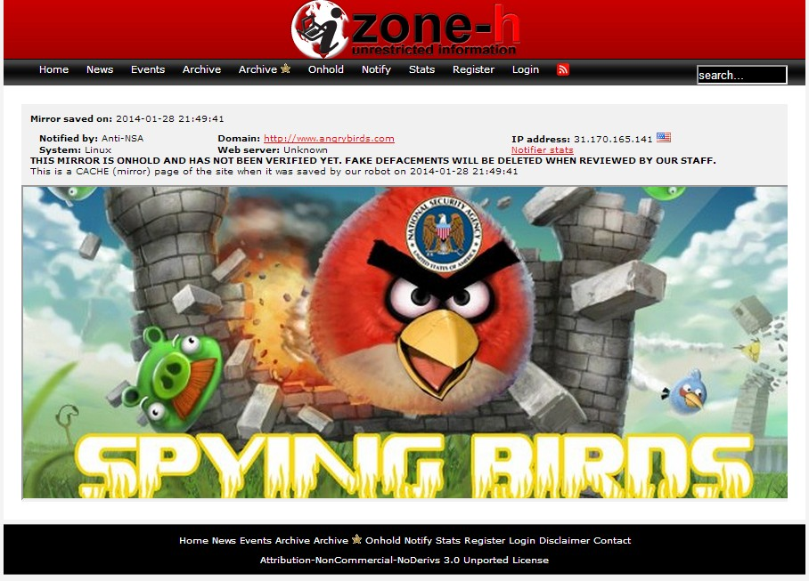 angrybirds hacked