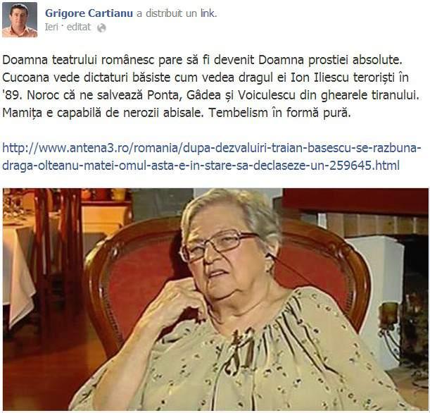Grigore Cartianu Facebook