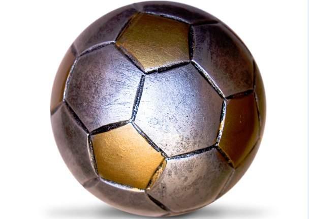 minge fotbal argintie