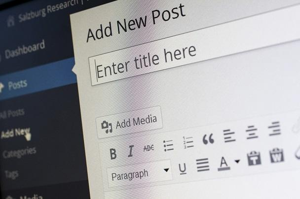 interfata blog wordpress