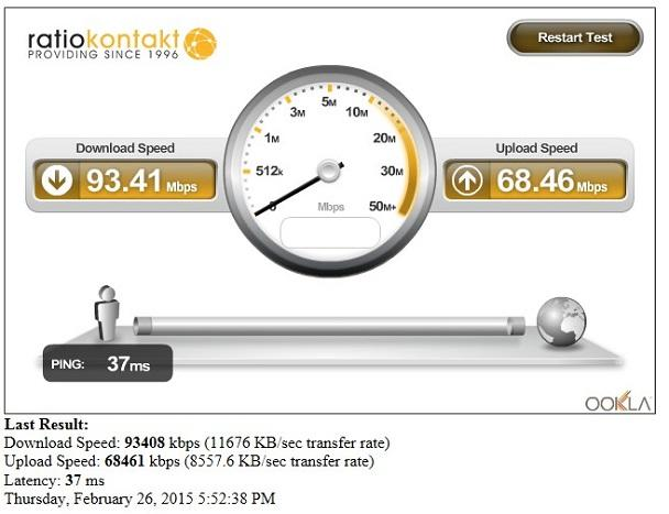 test viteza internet extern