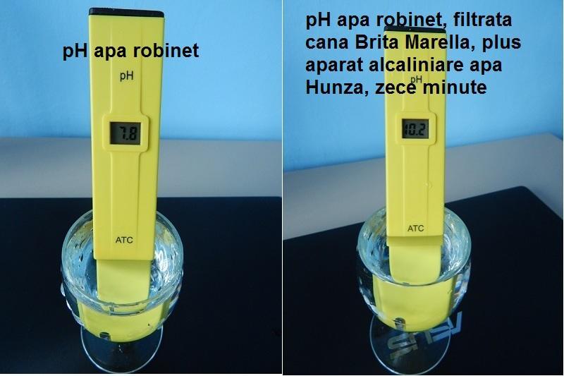 ph aparat alcalinizare apa filtrata