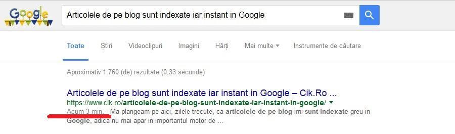 cum sa-ti indexezi foarte rapid articolele de pe blog in google