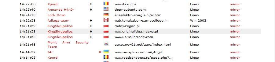 siteuri zone h sparte deface hackeri