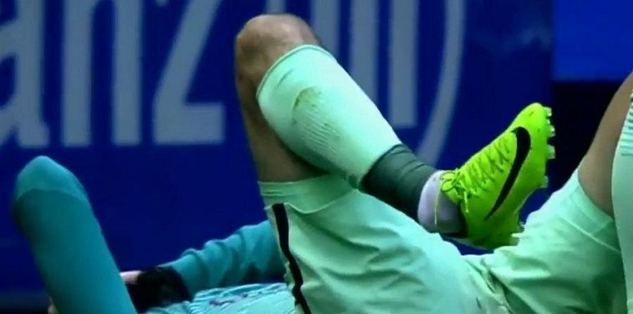 fotbalist picior rupt