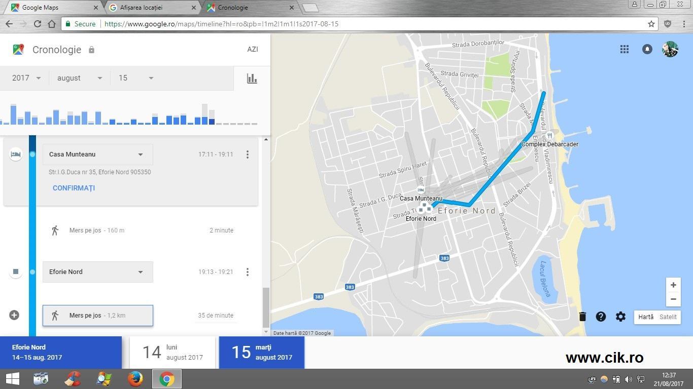 localizare google maps telefon pierdut furat