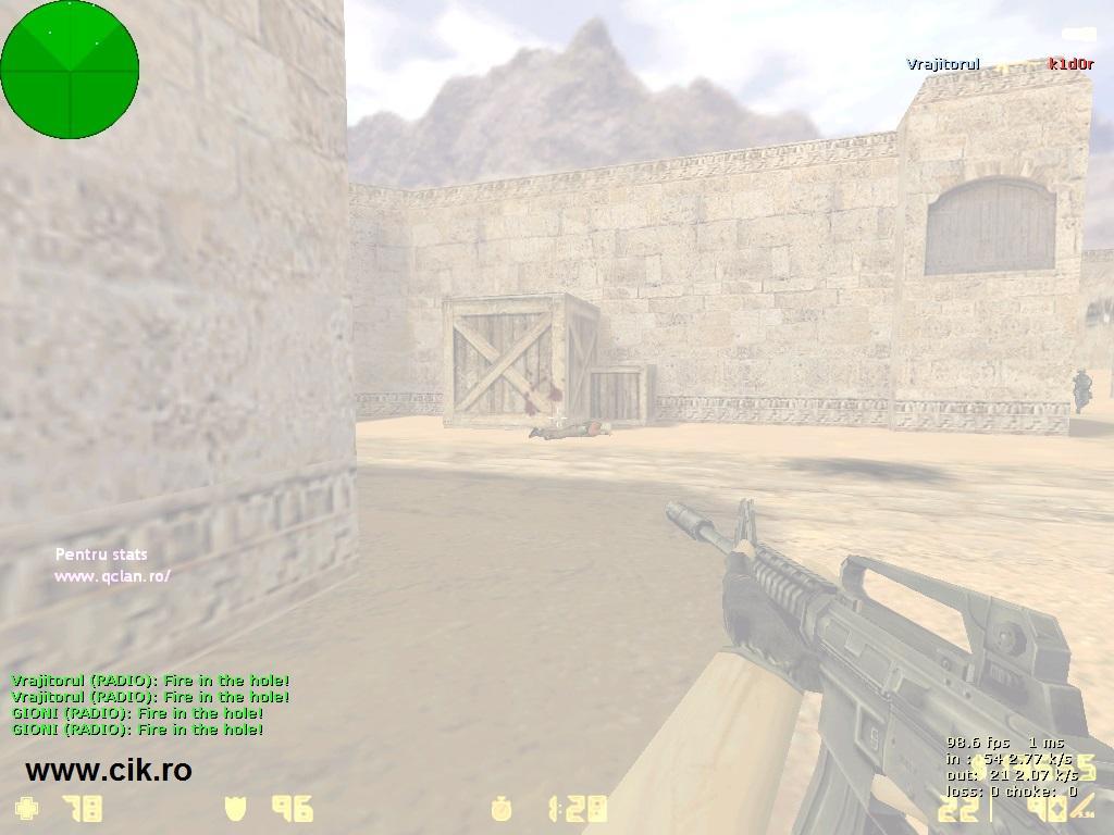 13 l-am omorat pe k1d0r din teg prin flash pe serverul de counter strike al lui r0xi