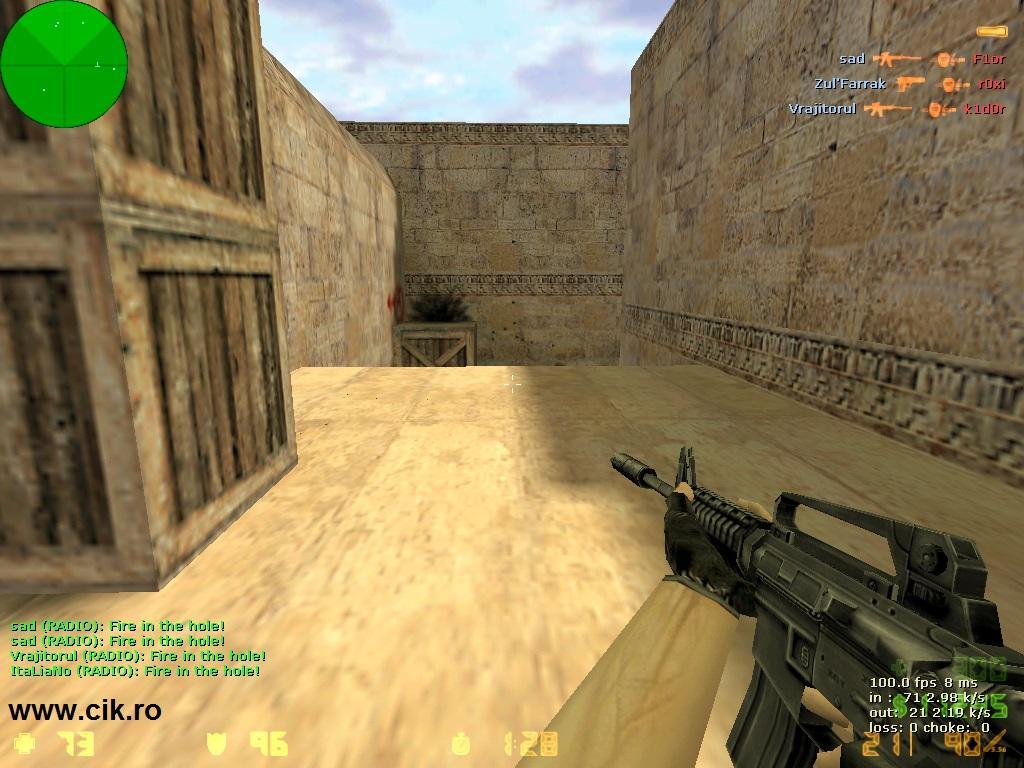 15 l-am omorat pe k1d0r din teg pe serverul de counter strike al lui r0xi