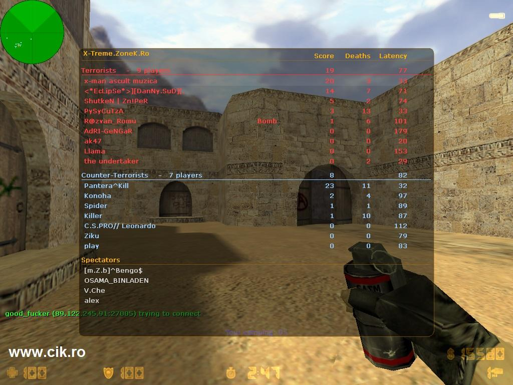 23 eu pex treme zonek ro server counter strike 1.6