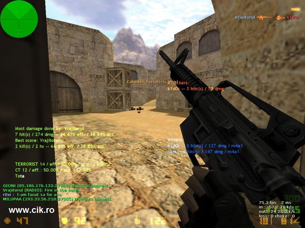 9 l-am omorat pe k1d0r din teg pe serverul de counter strike al lui r0xi