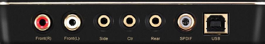 conectori spate ASUS Xonar U7 MK II